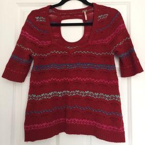Free People Fair Isle Keyhole Sweater